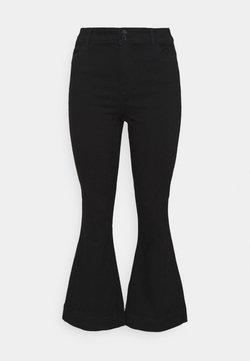 Vero Moda Curve - VMSHINY FLARE CURVE - Flared Jeans - black
