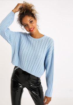 Pimkie - MIT ZOPFMUSTER - Pullover - blau