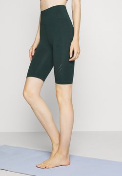 ONLY Play - ONPJAVO CIRCULAR SHORTS - Leggings - darkest spruce