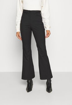 Monki - RAMONA TROUSERS - Flared Jeans - black