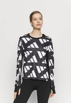 adidas Performance - CELEB - Funktionsshirt - black/white