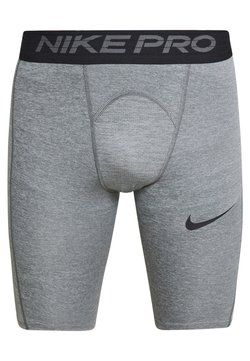 Nike Performance - SHORT LONG - Tights - smoke grey/light smoke grey/black