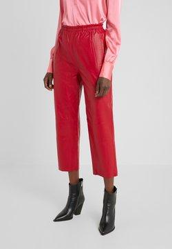Pinko - TOAST PANTALONE - Pantalon en cuir - rosso rio