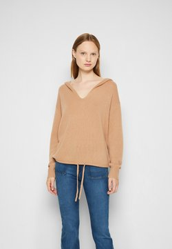 Theory - RELAXED HOODIE - Sweter - camel