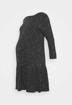 ATTESA - FIORI GOFFRATI - Robe en jersey - anthracite