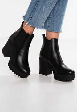 Even&Odd - Ankelboots med høye hæler - black