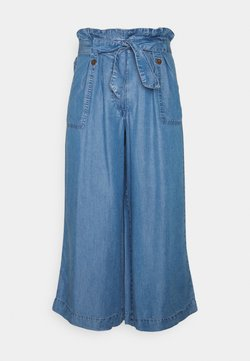 Marks & Spencer London - WIDE CROP - Jeansy Relaxed Fit - blue