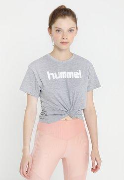 Hummel - HMLGO  - T-shirt print - grey melange