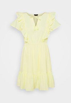 Colourful Rebel - VIVA RUFFLE MINI DRESS - Cocktailkleid/festliches Kleid - yellow