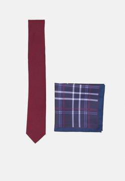 Pier One - SET - Krawat - bordeaux/dark blue