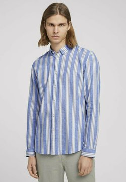 TOM TAILOR DENIM - Hemd - olive blue big stripe