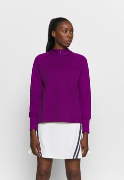 Nike Golf - THERMA LONG SLEEVE ZIP - Sweatshirt - bright grape/bright grape
