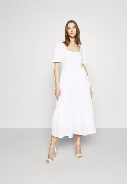 NA-KD - STRUCTURED VOLUME MIDI DRESS - Vestido largo - white