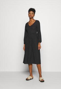 JDY - JDYHELEN LONG DRESS - Sukienka z dżerseju - black/cloud dancer