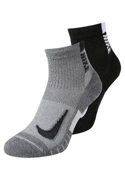Nike Performance - ANKLE 2 PACK UNISEX - Calcetines de deporte - grey/black