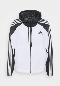 adidas Performance - STRIPES WINDBREAKER - Outdoorjacke - white/black