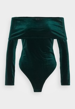 Nly by Nelly - FOLD OVER  - Maglietta a manica lunga - emerald