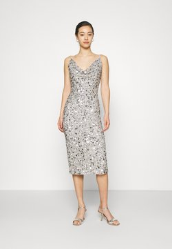 Lace & Beads - MARITA MIDI - Cocktailkleid/festliches Kleid - grey