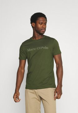 Marc O'Polo - SHORT SLEEVE CLASSIC - T-Shirt print - dried herb