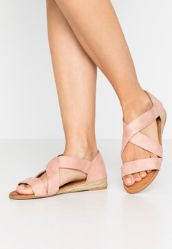 Dorothy Perkins Wide Fit - WIDE FIT REAM MINI CROSS OVER - Espadrilles - pink