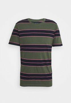 Club Monaco - NIRVANA STRIPED TEE - T-Shirt print - navy