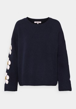 Madewell - FLORAL GRAPHIC MINT CHIP - Strickpullover - deep indigo