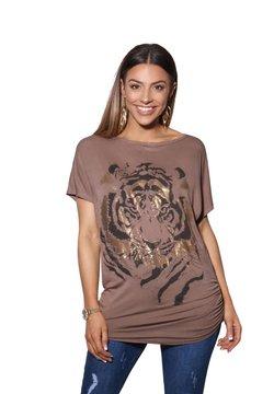 KRISP - OVERSIZE SHINY TIGER  - T-Shirt print - mocha