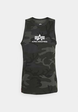 Alpha Industries - BASIC TANK - Toppi - black camo
