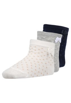 Ewers - 3 PACK - Calcetines - latte/grau/navy