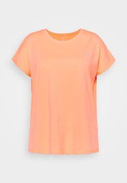 ONLY Play - ONPAUBREE LOOSE TEE CURVY - T-Shirt basic - neon orange