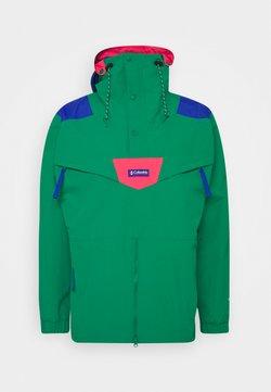 Columbia - MONASHEE ANORAK - Impermeabile - emerald green/lapis blue