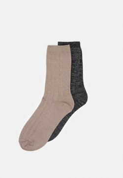 Becksöndergaard - MIX SOCK 2 PACK - Skarpety - black