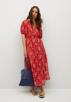 Mango - CALABASA - Maxi-jurk - rojo