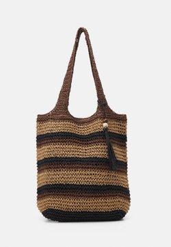 Seafolly - CARRIED AWAY STRIPE BEACH BAG - Accessoire de plage - bronze
