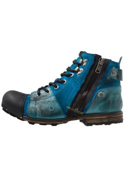 Yellow Cab - INDUSTRIAL - Schnürstiefelette - light blue