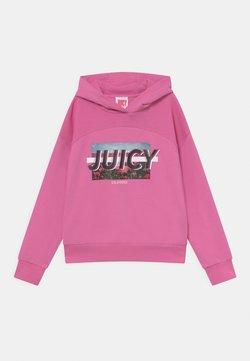 Juicy Couture - WAFFLE PANEL HOODIE - Collegepaita - wild orchid