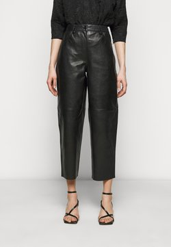 Lovechild - ASTON - Pantalon en cuir - black