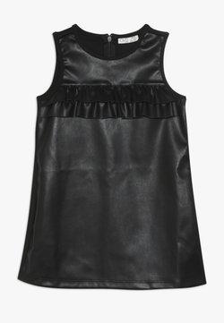 OVS - FAKE LEATHER DRESS - Freizeitkleid - pirate black