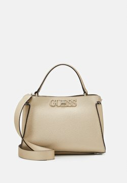 Guess - UPTOWN CHIC TURNLOCK SATCHEL - Borsa a mano - gold