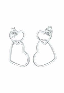 Elli - HEART - Örhänge - silber