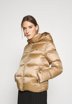 Calvin Klein Jeans - SHINY PUFFER - Daunenjacke - gold