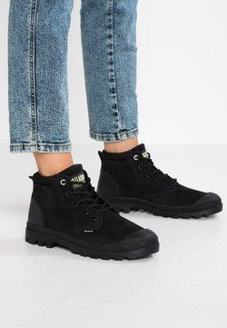 Palladium - LOW CUF LEA  - Ankle Boot - black/green sheen
