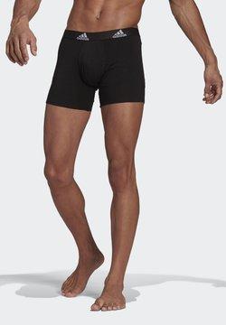 adidas Performance - BADGE OF SPORT BRIEF 3 PACK ESSENTIALS - Panties - black