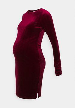 Glamorous Bloom - LONG SLEEVE DRESS - Vestido de tubo - burgundy