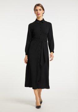 usha - Vestido camisero - schwarz