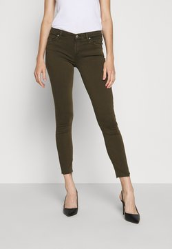 7 for all mankind - CROP - Jeans Skinny Fit - army