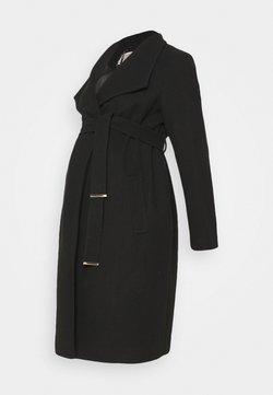 Dorothy Perkins Maternity - FUNNEL WRAP COAT - Abrigo - black