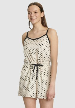 Pussy Deluxe - DOTTY - Jumpsuit - creme/allover