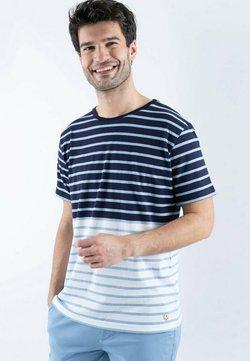 Armor lux - T-Shirt print - navire/blanc/himmelblau