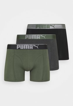 Puma - LIFESTYLE 3 PACK  - Shorty - army green